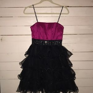 Strapless Homecoming Gown